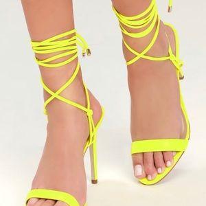 Steve Madden- Lime lace up heels